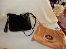 Near mint / unused? ladies quality designer handbag with dust cover pouch by Monsac