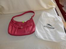 Near mint / unused? ladies quality designer handbag with dust cover pouch by Longchamp