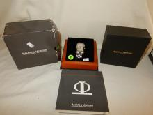 Wonderful & authentic! modern Baume & Mercier mens stainless steel wrist watch with original box and paperwork, cond VG, comes with original receipt. (from both watches) matches lot 38