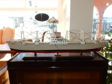 Nice custom made and painted boat / ship model display,