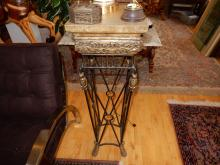 Lovely modern designer cast metal floor model fern stand. Special shipping required