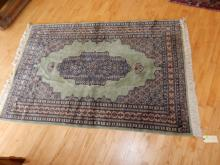Vintage hand woven Persian? wool rug, as found, used,