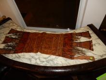 Unique African Taureg Hand Tooled and Paint Decorated Hide Saddlebag / Saddle Pad