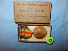 Vintage Victory Medal in box