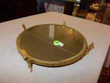 Lovely vintage putti supported mirror vanity plateau