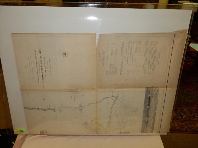 Antique us survey quotwest coast j no 7 1855 washington for Furniture and home decor hamilton county