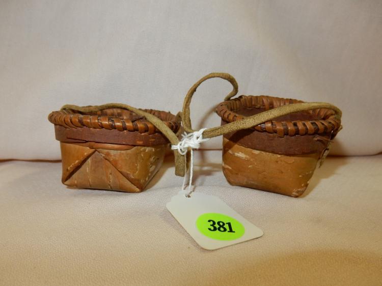 Handmade American Baskets : Piece native american handmade athabascan birch baskets