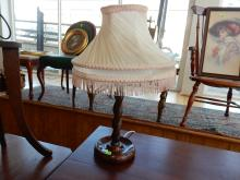 Antique barley twist table lamp