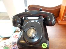 Antique crank style dial telephone, untested