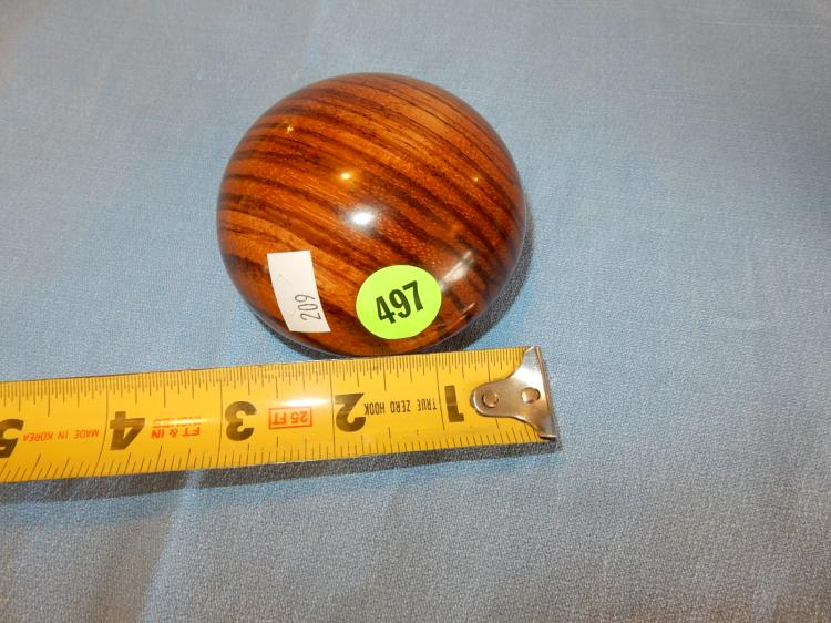 Lovely signed carved wood paperweight by tom laser zebra