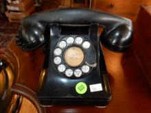 Antique desk top dial telephone, untested