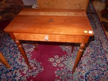 Antique American sewing table with drawer, redone, cannot ship in-house