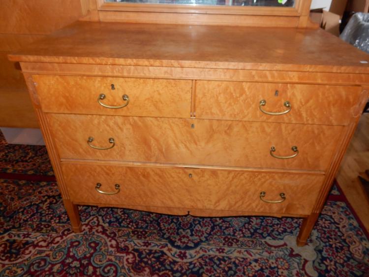 beautiful american birdseye maple antique bedroom set with