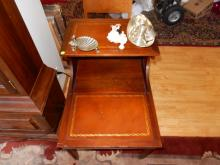 Mahogany step lamp table. Cannot ship in house, 3rd party shipper needed