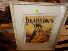 Vintage framed advertiser for Pearson's