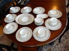 Vintage porcelain china set, Bavaria, cond VG
