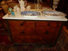 Antique marble top dresser. Cannot ship in house