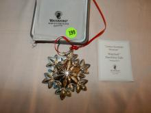 Sterling silver Waterford Christmas ornament, snowflake