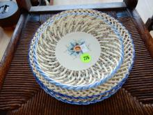 Group of lace edge plates