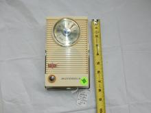 Nice vintage deco transistor portable radio, from private collection, Motorola, free standing style