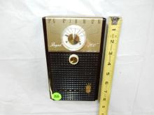 Nice vintage deco transistor portable radio, from private collection, Royal 200 free standing style