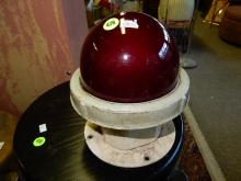 Vintage ship's red globe lens light, 240 volt
