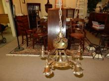 Original hanging Arts & Crafts light fixture