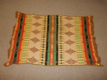 Vintage Arts & Crafts style Native themed blanket
