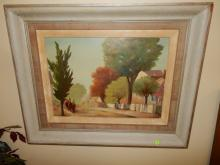 Lovely oil painting on board titled