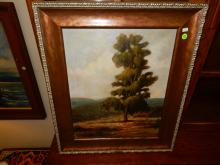 Lovely oil painting on canvas, tree, signed Frost