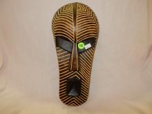 Hand carved and painted African mask