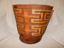 Beautiful Antique Native American hand woven Tlingit basket, 19th cent