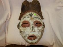 African? hand painted & carved mask