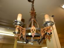 Nice antique A&C / Gothic hanging light fixture. Cannot ship in house