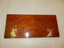 Carved Native American plaque