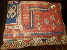 Navajo style rug, converted into pillow