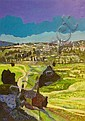 Jerusalem, Oded Feingersh, Oil on canvas, Oded Feingersh, Click for value