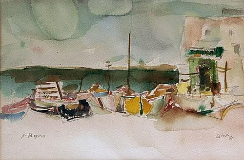 The Harbor in Tel Aviv, Alexander Bogen,