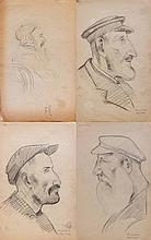 David Yakerson - Russian-Jewish Portraits - 12 Pencil Drawings