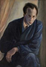 Portrait of David Yakerson (the Artist's Husband) By Yelena Kabischer