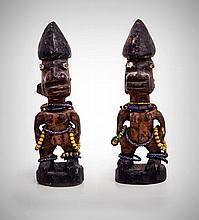 A Pair of Adorned Yoruba