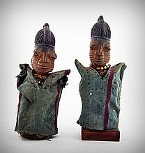 A Pair of Clothed and Adorned Yoruba