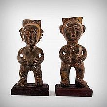A Pair of Igbo Ancestor Profusion Figures, Owerri,