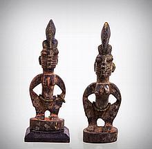 A Pair of Yoruba Female