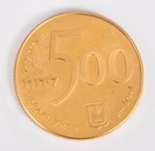 A 22K Gold Jubilee Coin of 500 Lira