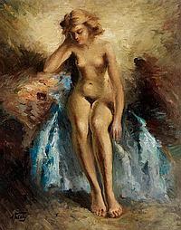 A. Tolstoi, Russischer (?) Maler des 20. Jahrhunderts