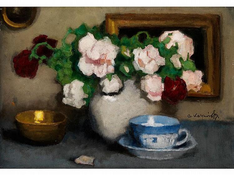 Alfons Karpinski, 1875 Rozwadow/ San -1961Schüler der Kunstakademie Krakau, ging 1903 nach München, anschließend an die Wiener Akademie. Mehrfach ausgezeichnet wirkte er 1908 in Paris, Bilder seiner Hand in öffentlichen Sammlungen Polens.