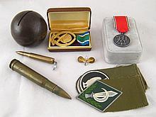 Militaria etc. Three Israeli army epaulettes, a