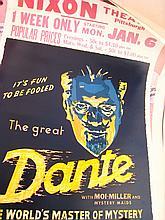 Three American posters promoting illusionists,viz.