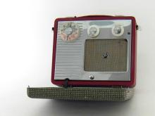 A Pye ?Jewel Case? model P114 portable radio, circa 1958, in good working order complete with batteries.
